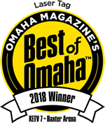 Omaha Magazine's Best of Omaha 2018 Winner for Laser Tag